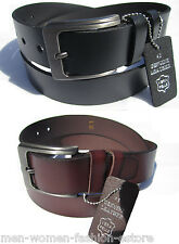 Brand New Men's 35MM Casual Dress Genuine Leather Rugged Classic Jean Belt 34-44