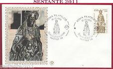 ITALIA FDC FILAGRANO NATALE DONATELLO MADONNA COL BAMBINO 1986 ROMA FILAT. Y451
