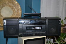 Sony CFS-W320 AM/FM Double Cassette EQ Removable Speaker Boombox vintage rare