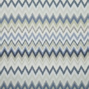 Java Ocean - By iliv - Zig Zag, Wave, Woven Fabric - 2 Metre Piece