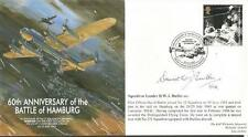 Sqn Ldr D Butler DFC signed 60th anniversary of the Battle of Hamburg cover HM02