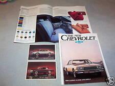 1980 CHEVROLET CAPRICE + IMPALA BROCHURE / CATALOG + 2 ORIG. 80 CHEVY POSTCARDS