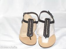 Marc Fisher Size 7.5  Black Thongs Sandals New Womens Shoes