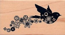 Bird Flourish 97977 INKADINKADO RUBBER STAMP   w/m  Free Shipping ~ New
