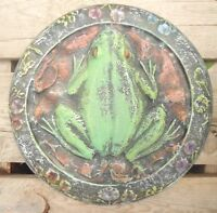"""Frog stepping stone mold plastic casting garden mould 12.5"""" x 1.25"""" thick"""