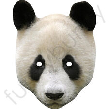 Cute Panda Bear Animal Card Cardboard Mask - All Our Masks Are Pre-Cut!