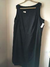 NWT Talbots Size 22W (2X) LBD Black Silk/Cotton Sleeveless Sheath Dress