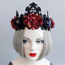 1pc Vintage Women Floral Crown Hair Band Gothic Bride Headwear Wedding Party