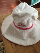 Juicy Couture Reversible Terry Crusher Hat with hot pink and White! Small petite