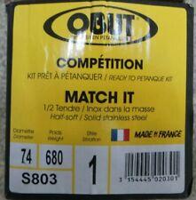 OBUT COMPETITION MATCH IT 1/2 TENDRE JEU DE 3 BOULES S803
