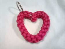Paracord 2 color Heart Keychain Hand made Color yellow and Black