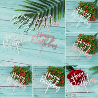 Wedding Decoration Acrylic Decor Happy Birthday Cake Topper Party Supplies