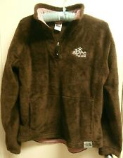 The North Face Women's Fleece Pullover Brown with Pink Size Medium