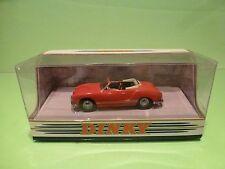 DINKY TOYS DY035/A VW VOLKSWAGEN KARMAN GHIA 1968  CONVERTIBLE - RED 1:43 - GIB