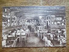 1940s Ship's Cabin Dan & Louis Oyster Bar Restaurant Postcard Portland OR Unused