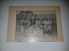 American School of Osteopathy Kirksville Missouri 1911 Baseball Team Picture