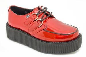 T.U.K V8903 Red Iridescent Patent Viva Mondo Creeper