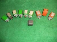 PEUGEOT 505 Mixed LOT of Used ORIGINAL Cartier and Sipea RELAYS