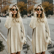 Oversized Womens Long Sleeve Sweater Blouse Ladies Jumper Loose Pullover Tops UK