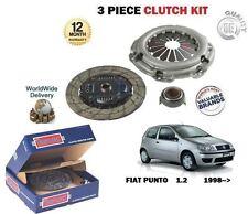 Per FIAT PUNTO 1.2 60bhp 182 1999-2006 NUOVO Kit Frizione 3 PEZZI