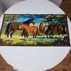 Vintage Horse Tapestry Foal Trees Flowers Water Palestine Trading Co Lebanon