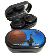 Stay Active Mirror Case Contact Lens Soaking Storage Case UK MADE - Basketball