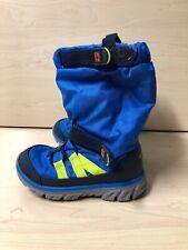 Stride Rite Made 2 Play Toddler Boy Blue Snow Boots Size 9M (EU 26)