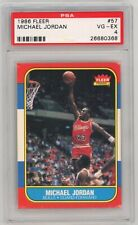 1986 Michael Jordan Fleer #57 Rookie Card RC PSA 4 VG-EX GOAT Invest 📈