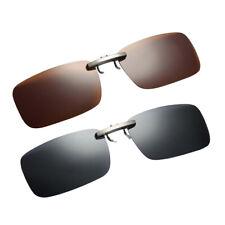 2x lente polarizzata UV400 Flip-Up Clip On Occhiali da sole Indossare Over