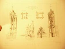 dessin planche eglise de beaumont  archive monuments historiques beaux arts