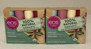 EOS Super Soft Shea Lip Balm Mint/Strawberry/Vanilla/Pomegranate 2 packs of 4