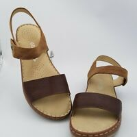 PATRIZIA BY SPRING STEP Womens Platea Brown Leather Sandals Size EUR 41 US 9