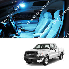 7x Aqua Ice Blue Interior LED Package Kit Dome Map light For Ford F-150 L322IB