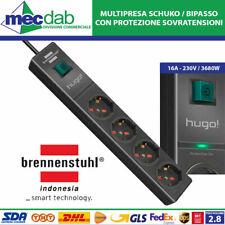 Multipresa Ciabatta Hugo 4 prese protezione sovratensione Brennenstuhl (34883)