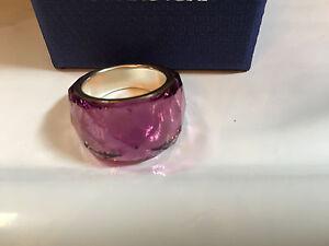 NIB $155 Swarovski Petite Nirvana Ring Amethyst Size 52(6/S) 55(7/M) 58(8/L)