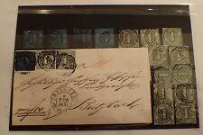 Thurn und Taxis Sammlung Brief (Inhalt) plus 15 Marken Mi 11 Mi 8 Erste Auswahl