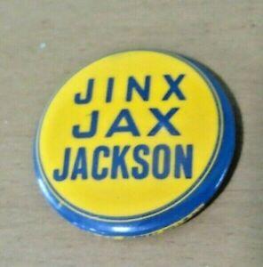 JINX JAX JACKSON PIN,ORIGINAL EDMAR SPEC CO.FOREST HILLS N.Y. RARE BASEBALL PIN