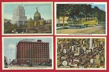 Montreal Toronto Windsor Canada Lot of 4 Vintage Circa 1930-1940's Postcards