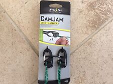 GENUINE NITE IZE CAMJAM 2 PACK REFLECTIVE ROPE CAM JAM CORD TIGHTENER TENSIONER