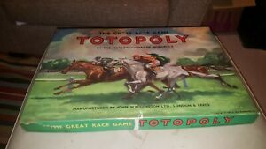 Totopoly Board Game - Waddingtons - Vintage Horse Racing Game