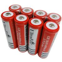 8X 3.7V 18650 Battery Li-ion 6800mAh Rechargeable for Flashlight Laser Headlamp