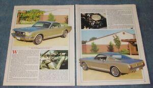 "1965 Ford Mustang GT Fastback Vintage Article ""Honey Gold Hi-Po"""
