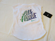 Nike active The Nike TEE t shirt youth girls 4 3-4 years 36A640-001 white NWT^^