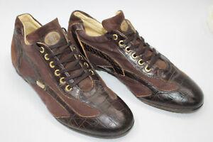 CESARE PACIOTTI men shoes sz 8 Europe 40 BROWN leather S8121