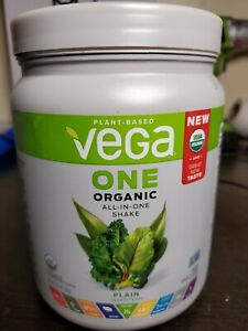 Vega All-in-One Plain Unsweetened Organic Shake Mix 13.5oz - 08/20 - WH1