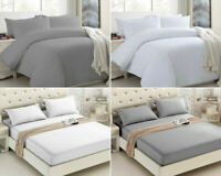 400TC DUVET COVER / FITTED SHEET 100% EGYPTIAN COTTON DOUBLE KING SIZE BEDDING
