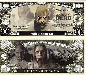 The Walking Dead Comic Book Series Million Dollar Novelty Money