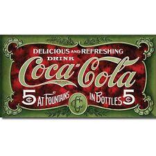Coca Cola Coke 5 Cent 1900s Advertising Retro Vintage Style Metal Tin Sign New