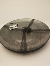 AKCAM TURKISH GLASS Dinner Plates Set Of 4 Black Silver SPARKLE Holiday New