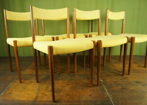 6 Pieces Vintage Chairs Rosewood Danish Retro Dining Room Chair mid-Century 60er